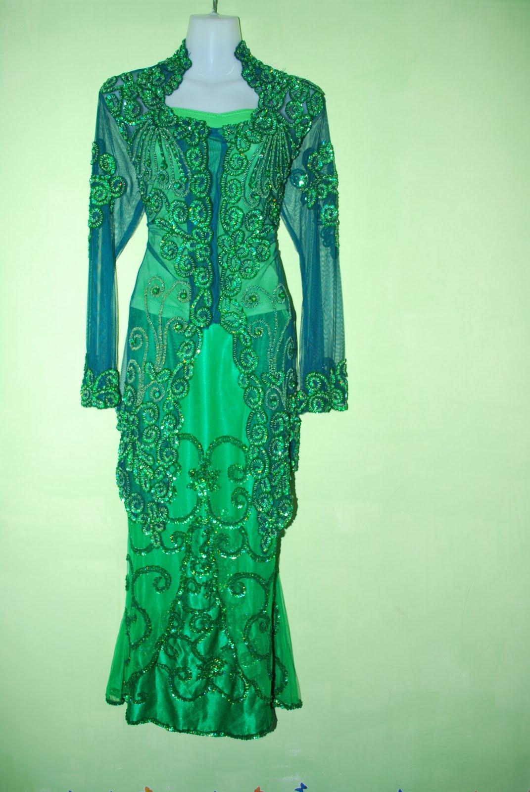 baju kahwin hijau