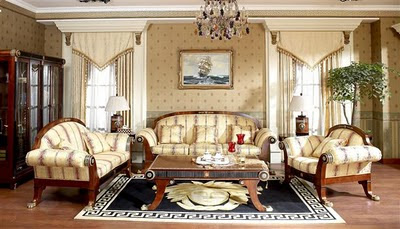 Country Style Living Room Furniture on Antique Living Room Furniture Set Empire Style