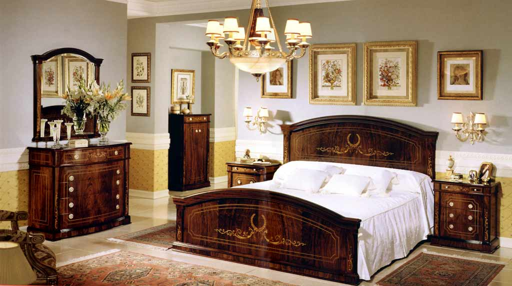 Spanish style classic bed room french design for Spanish style bedroom