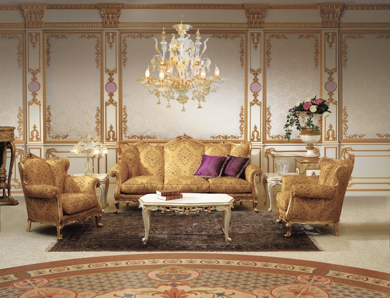 Classical Sofa Set In Baroque Style Luis XV Period
