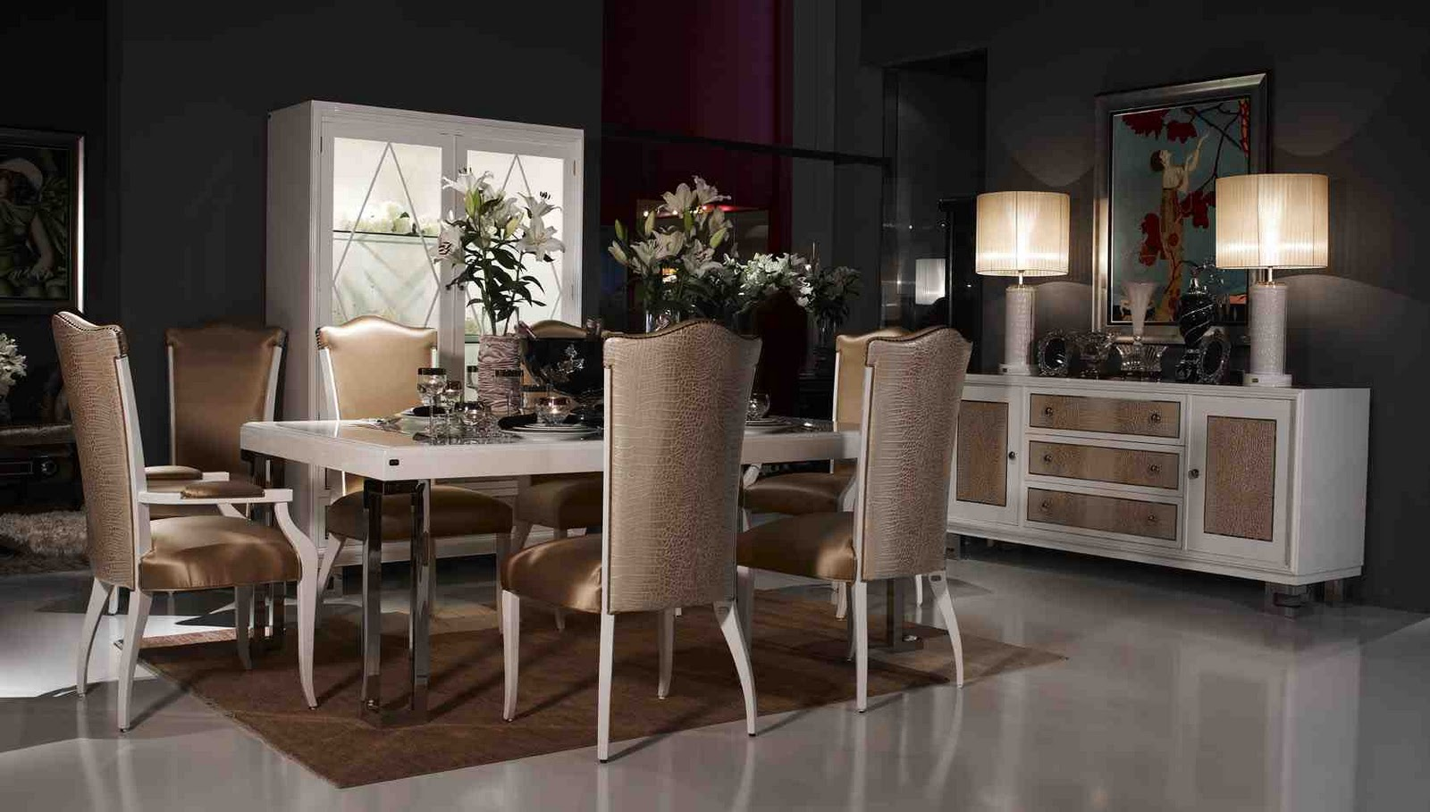 Antique italian classic furniture furniture design for Modern dining room designs 2013