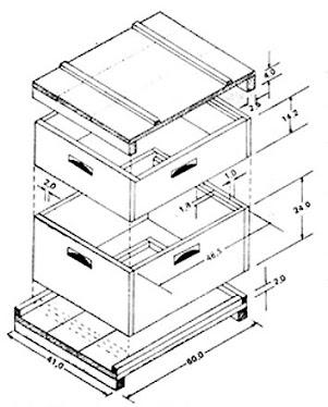 Caixa Padrão - Colméia Modelo Langstroth