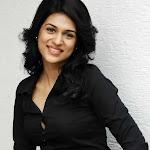 Shraddha Das in Black Dress Cute Photo Gallery