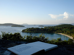 Journaling above Caneel Bay