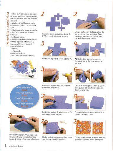 molde caixa de costura