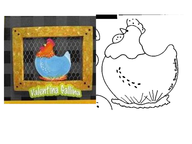 quadro de galinha