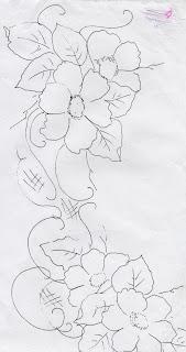 risco flores silvestres para pintar