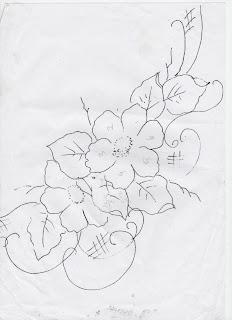 risco flores  para pintar