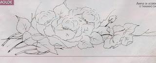 risco de rosas para pintar
