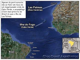 Cabo Verde e Ilhas Canárias - Risco de tsunamis