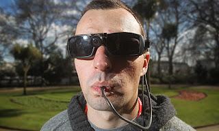 Soldado cego que enxerga com a língua