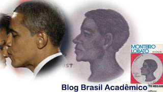 Detalhe da capa do livro O Presidente Negro de Monteiro Lobato e Obama