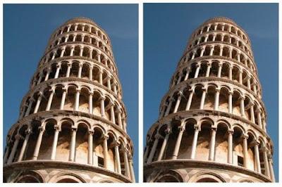 Ilusão da torre de Pisa