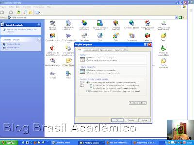 Ajustando o Windows para abrir itens com um único clique do mouse