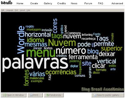 Wordle - Gerador de nuvem de tags
