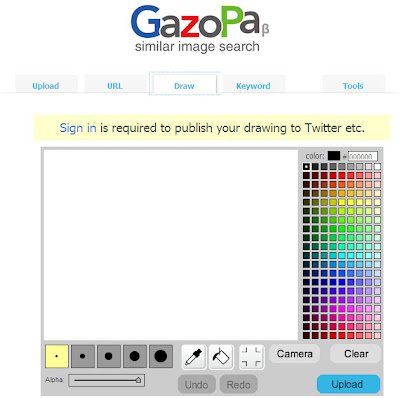 Editor de imagens para busca no Gazopa
