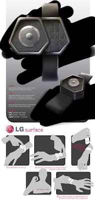 LG Surface: relógio de pulso e telefone para cegos