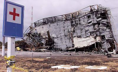 Torre de lançamento do VLS destruída