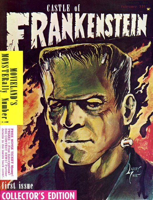 The Covers of Frankenstein : Castle of Frankenstein No. 1