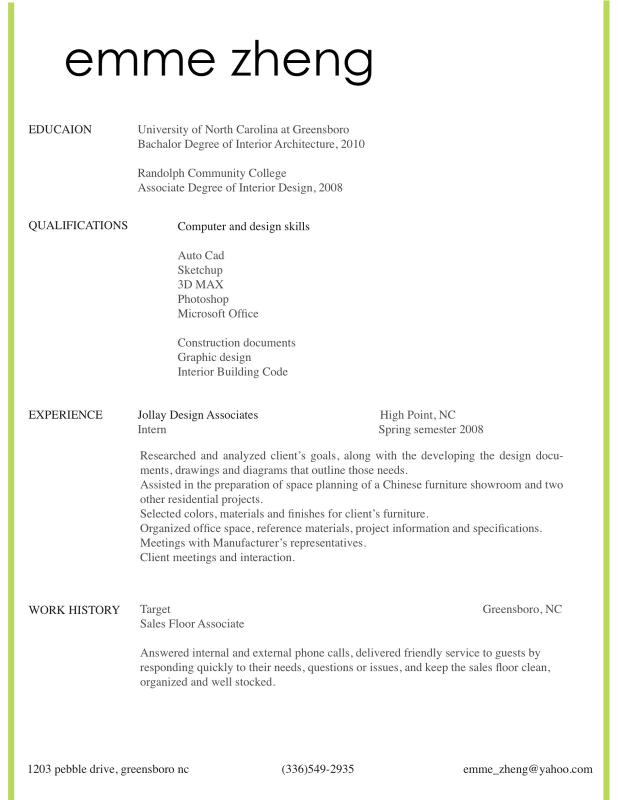 Harvard Architecture Cover Letter  Online Writing Lab