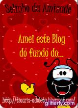 Ganhei do blog Adoleta. Lindinho!!!!