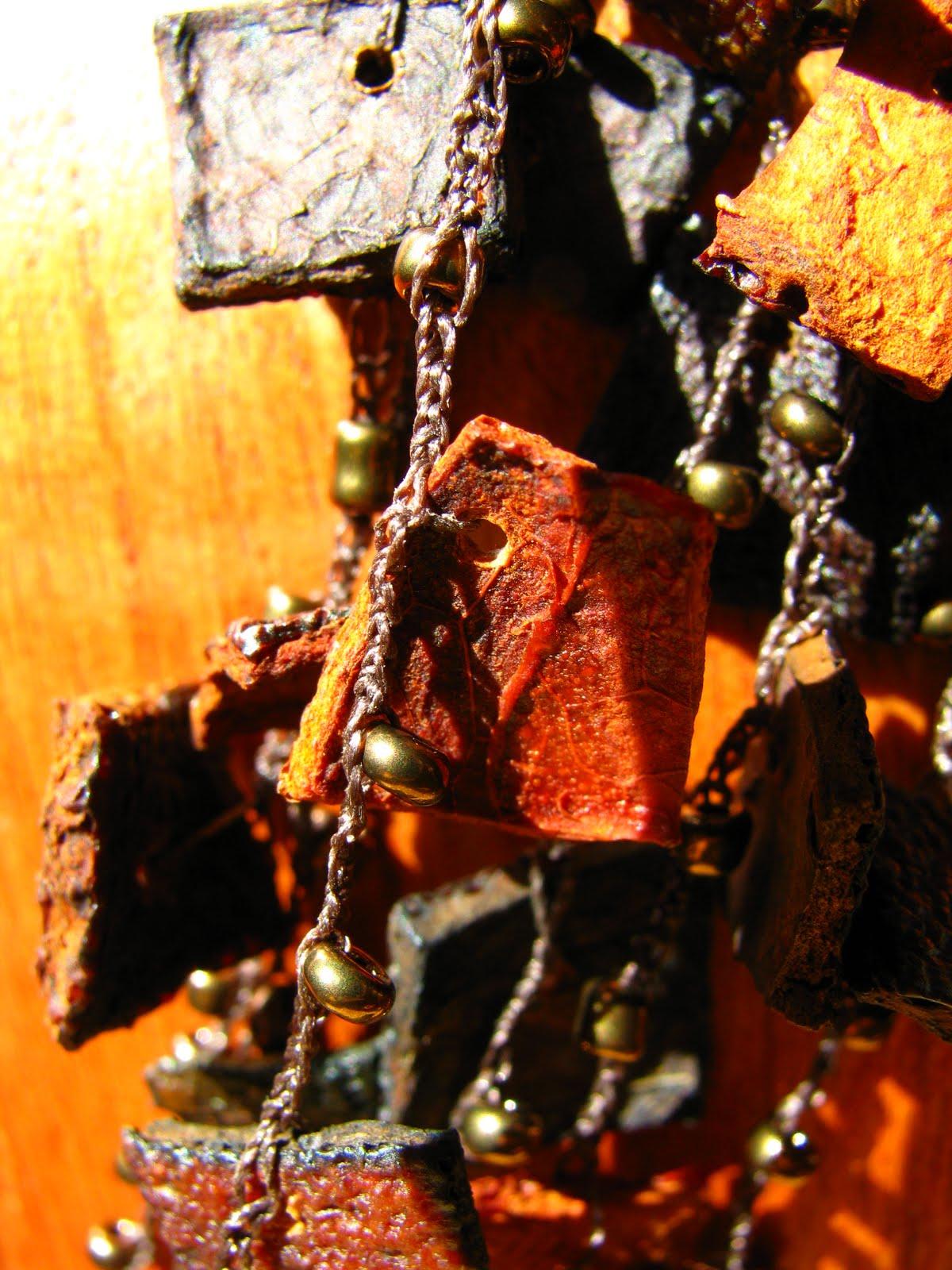 Collier ecorce d'orange