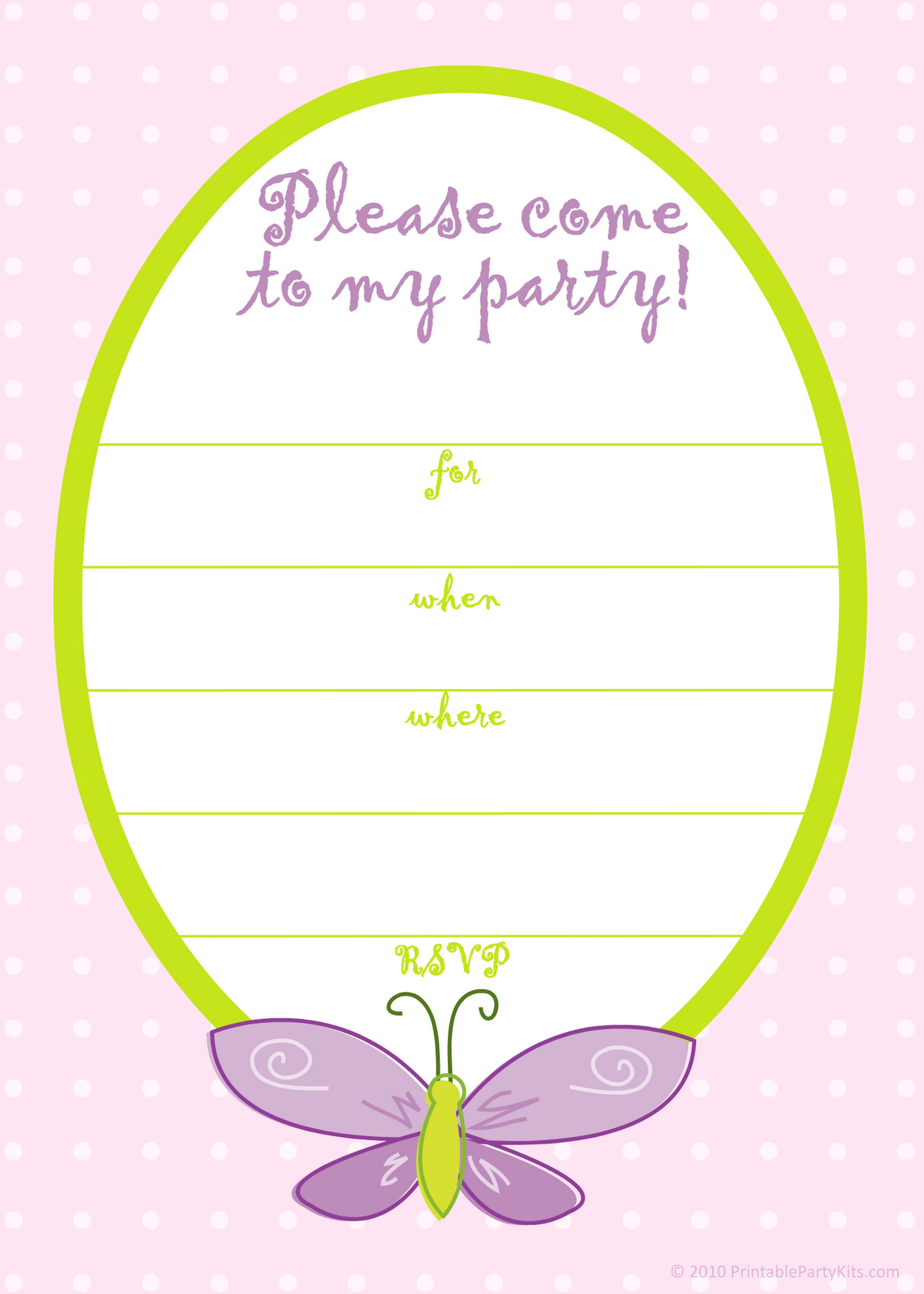 Birthday Party Invitation Templates Printable Free
