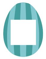 Easter scrapbook supplies -- egg photo frame