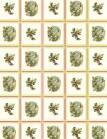 vintage floral Christmas scrapbook paper