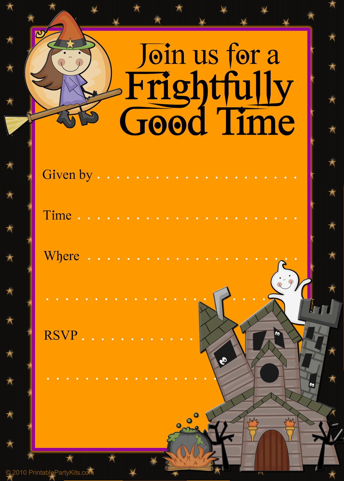 Free Printable Party Invitations: Printable Good Witch Halloween ...