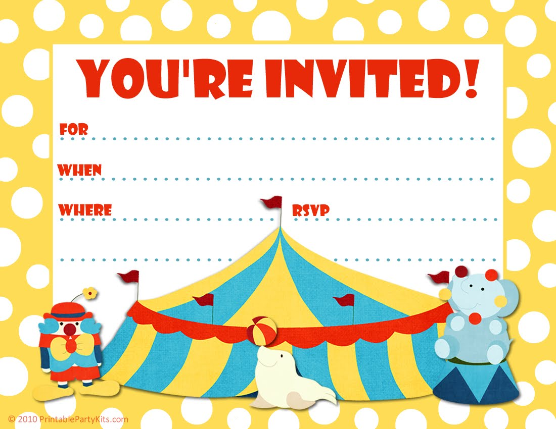 Free Printable Party Invitations: Free Printable Invite for a 5th