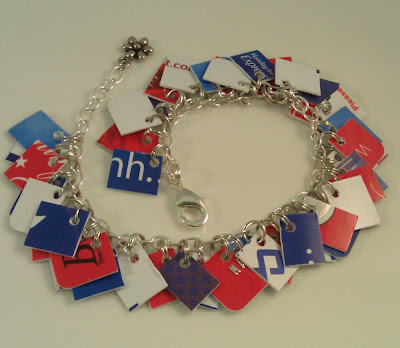 Red, White and Blue Mini Take Credit Bracelet