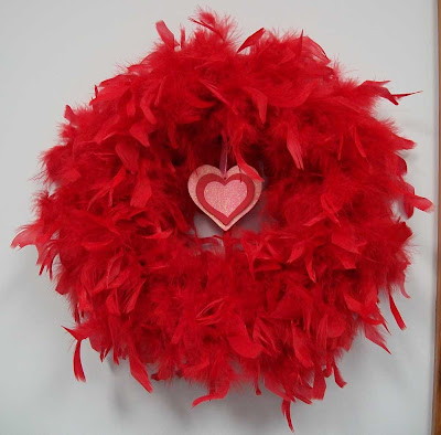 Red marabou wreath