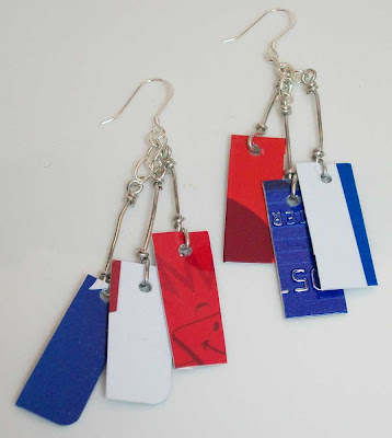 Red, White and Blue Take Credit Earrings