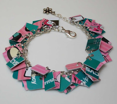 Pink Mini Take Credit Bracelet