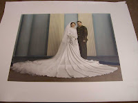 wedding picture to be matted - click to enlarge