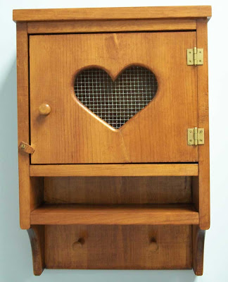 Cabinet with heart cutout on door - now in my craft room