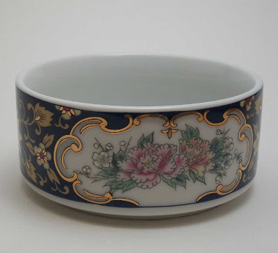 Blue and Pink Floral Dish