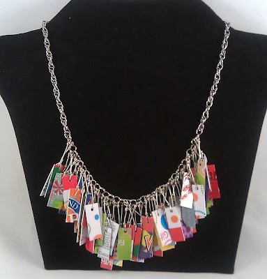 Party Bright Credit Card Necklace