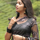 Swathi in Black Transparent Saree  Photo Gallery