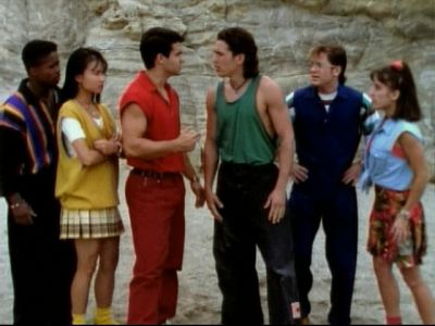 Power Rangers in civilian clothes