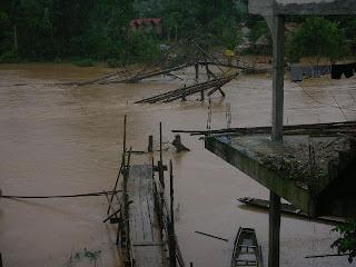 river in Vang Vieng Laos