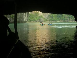 lagoon in Halong Bay Vietnam
