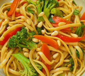 Asian Noodle & Veggie Salad With Soy Vinaigrette Recipes — Dishmaps