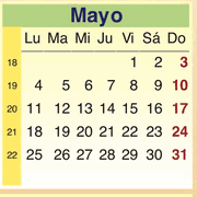 Calendario Mayo 2009