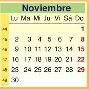 Calendario Noviembre 2009