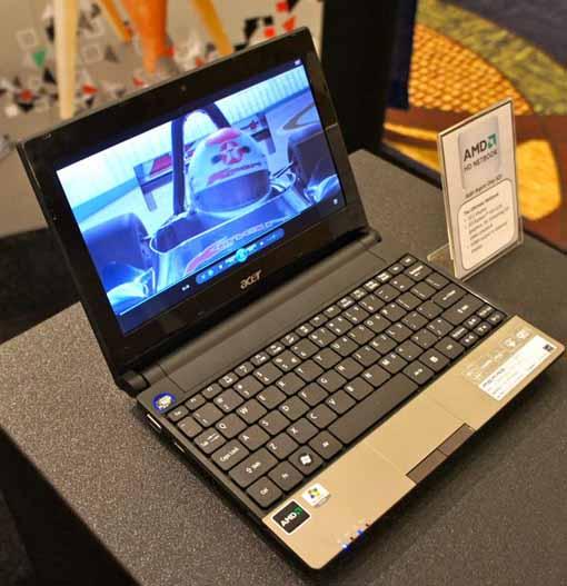 Acer Aspire One 521 com AMD Athlon II Neo K125 e ATI HD4225