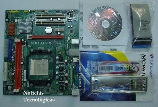 Componentes da motherboard ECS MCP61M-M3