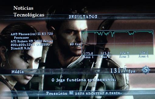 Performance Resident Evil 5 - ECS MCP61M M3