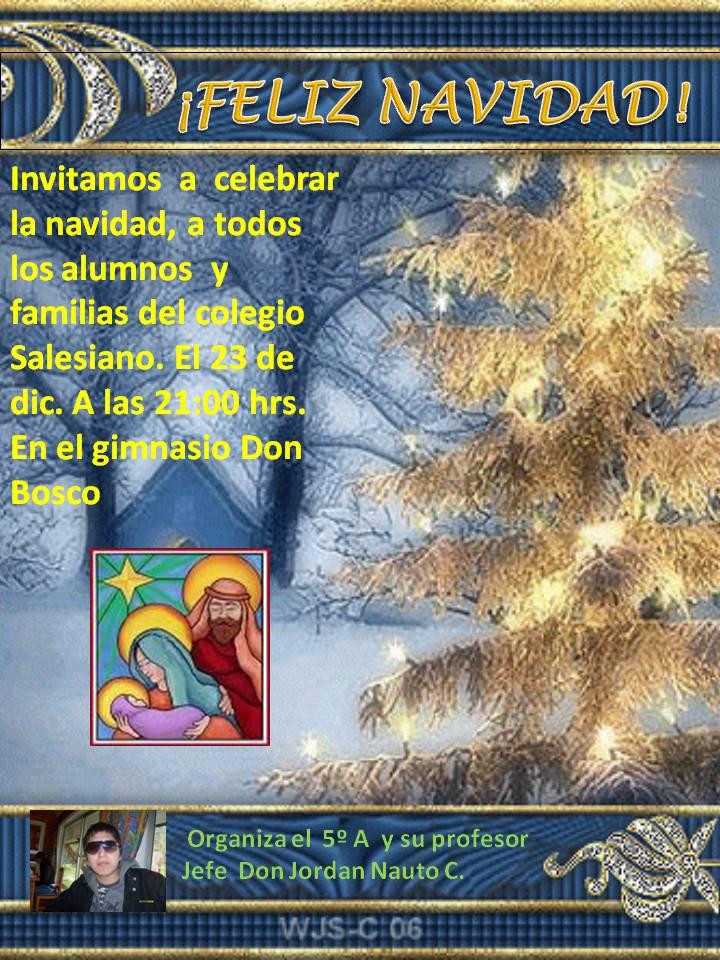 Jordan Marcelo Nauto Carrasco: afiche de navidad
